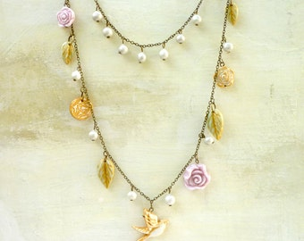 Bridal Jewelry - Vintage Fairy Necklace for the Bride