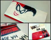 Harley Quinn Themed 100% All Duct Tape Clutch Wallet