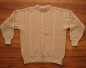 mens vintage united colors of Benetton cable knit sweater