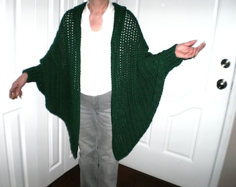REDUCED PRICE Hands Free Crocheted Cuffed Shawl