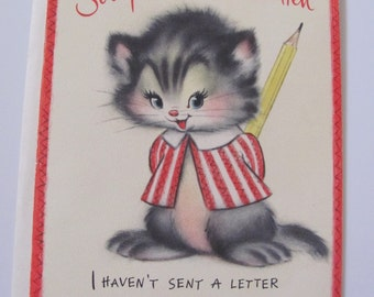 Unused Vintage Antique Greeting Card - Circa 1960s - I Haven't Written