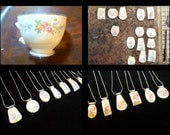 CUSTOM MADE Recycled Broken Family HEIRLOOM China Plate Jewelry - Reserved for Jill