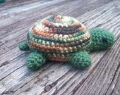 Crochet Turtle Plush Amiguri in Green and Camo
