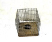 Vintage Small Animal Cage, Vintage Handmade Rat Trap, Primitive Style Handmade Animal Trap