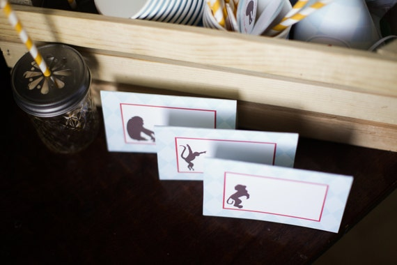 Monkey Table Food Signs