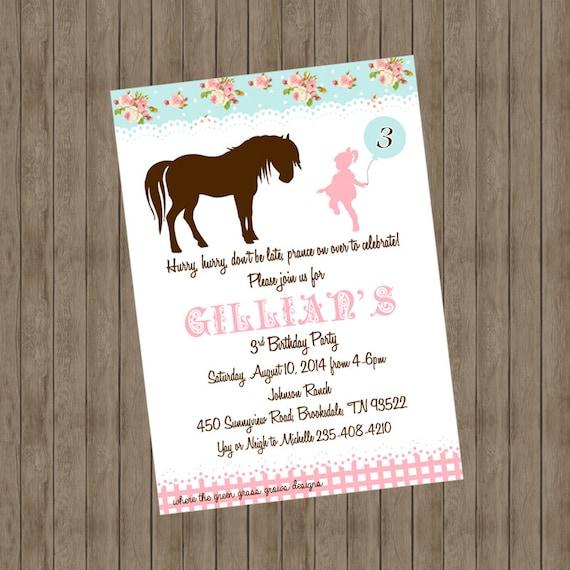 Pony Invitations