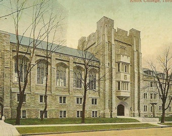 Knox College TORONTO Ontario Unused Vintage Postcard Beautiful Gothic Revival Architecture