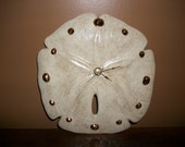Ceramic Sand Dollar Clock