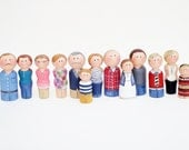 Custom Family Gift, Peg Family Personalized Gift- Made to Order