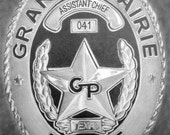 Custom Pencil Drawing From Your Photo - 8x10  Police Fire Department Law Enforcement Badge Personalized Sketch Art From Picture