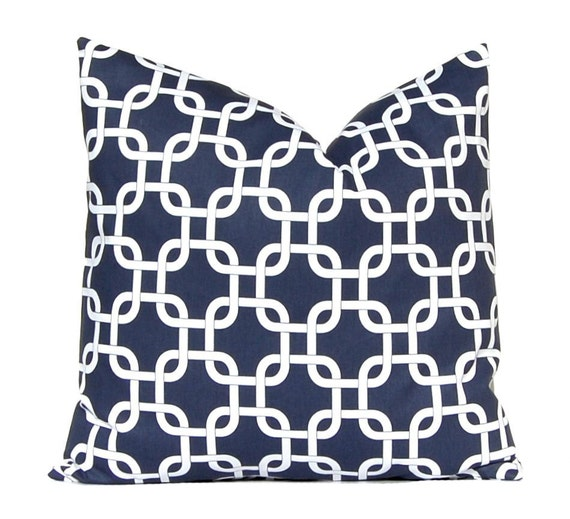 Decorative Pillows Navy Blue : Navy Blue Pillow Throw Pillow Decorative by CompanyTwentySix