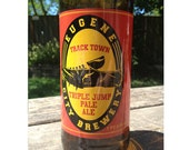 Track town Triple Jump Pale Ale by Rogue Ales - Beer Bottle Glass - Oregon Ducks Eugene
