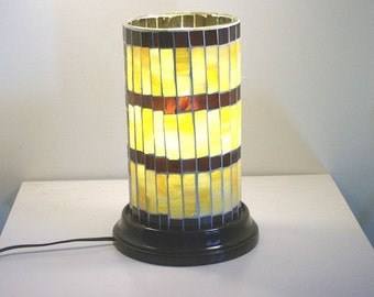 Stained Glass  On Glass Mosaic Table Top Electric Lamp Accent Light Night light Home Furnishing Lighting