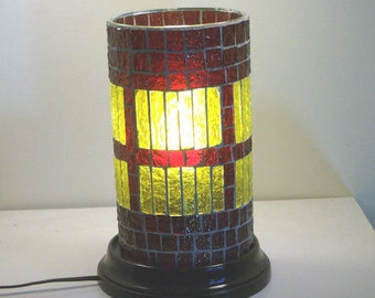 Stained Glass Mosaic Valentines Day Table Top Electric Lamp Accent Lamp Night light Home Furnishing Lighting