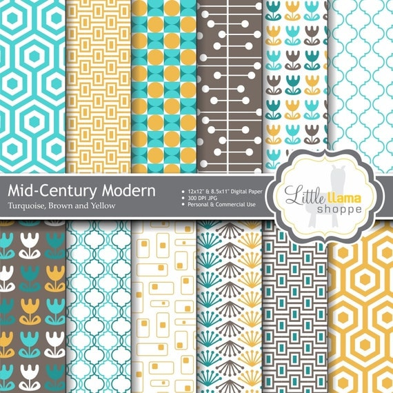 Mid century modern geometric patterns images - Mid century modern patterns ...