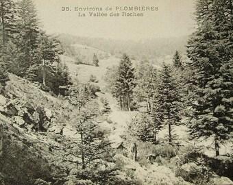 Unused Vintage French Postcard - La Vallée des Roches, Plombières, Vosges, France