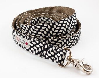 Mod Floral Dog Leash - Black