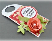 Wine Tag -- Thank you for the Invitation Rose Wine Tag