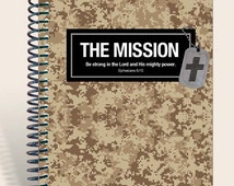 Military Gift / Personalized Prayer Journal / Gift for Soldier - Desert Camo