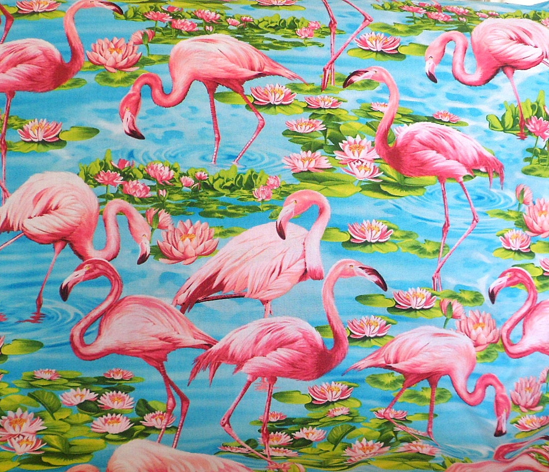 Pink Flamingo Fabric Flamingo Fabric Cotton Material