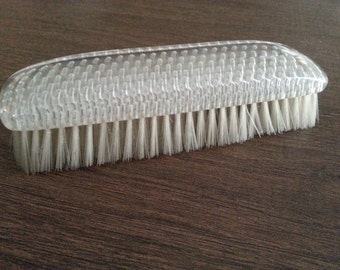 SALE Vintage Lucite Clothing Brush Synthetic Bristles1960s Lint Brush