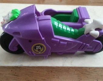 Vintage DC Comics Joker Motorcycle with Sidecar Purple and Green Spring 1990 Villain Cycle
