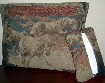Horses Tapestry Accessories Bag And Pocket Tissue Holder