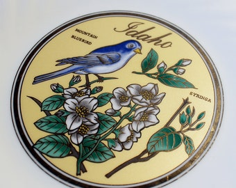 Idaho Syringa and Mountain Bluebird Collector Plate