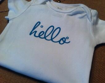 Hello, Onesie, Baby Clothes