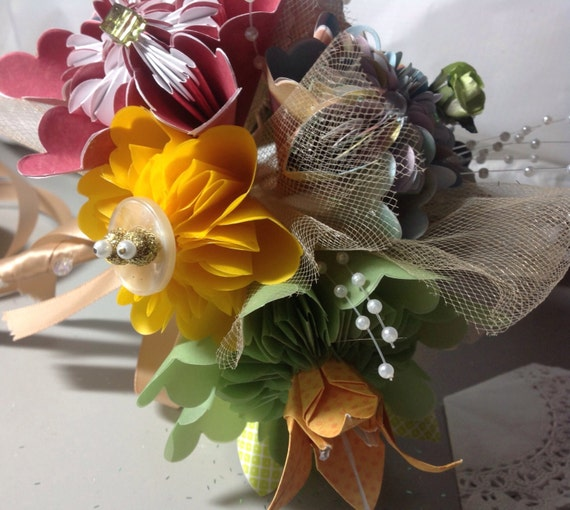 Origami Wedding Flowers: Origami Flower Wedding Bouquet Tropical By