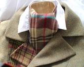 Ladies wool Tweed Cranachan cravat lined with pure silk.