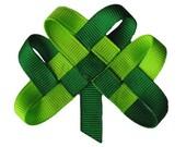 Shamrock LAPEL PIN or HAIRCLIP - St Patrick's Day - Irish Wedding - Notre Dame Fighting Irish - Ireland - Shamrock Pin - Irish Flag