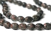 Fossil Agate Beads, 10mm x 8mm oval natural gemstone, Full strand (1048S)