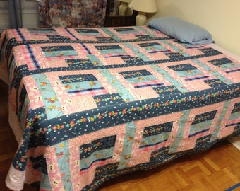 "Come on Echo, be your freaking best 96""X102"" Queen/king Quilt"