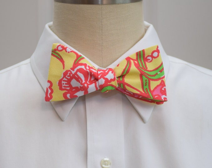 Chi Omega Bow Tie, lilly sorority print, sorority sweetheart bow tie, licensed sorority Chi O print, Chi O formals bow tie, self-tie bow tie