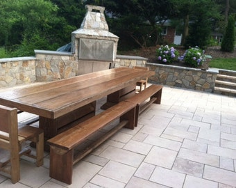 6 foot reclaimed modern farmhouse dining room set for 12 foot picnic table