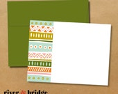tribal // set of 16 notecards