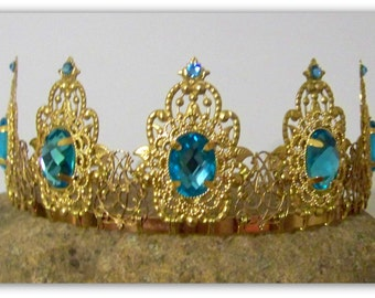 Medieval Crown - Renaissance Crown, Medieval Jewelry, Crown, Tudor Crown, Tiara, Catherine of Aragon, Tudor Replica, Anne Boleyn