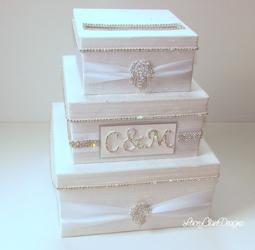 Wedding Card Boxes For Receptions: Wedding Card Box Bling Card Box Rhinestone Money Holder