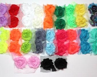 """Petite Shabby Chic Flowers -  1 1/2"""" Shabby Flowers - Petite Shabby Trim - Grab Bag 40 Petite Shabby Flowers"""