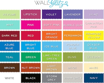 Color Samples- Wall Decals