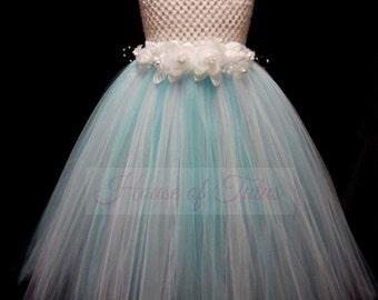Frozen Themed Tutu Dress, Frozen Elsa Tutu Dress, Tutu Dress, Light Blue Tutu Dress, Toddler Tutu Dress, Available In Size 0-24 Months.