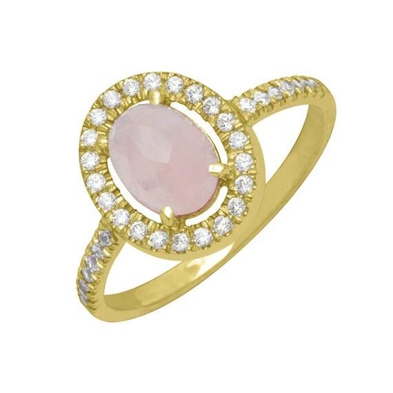 Rose Quartz Wedding Rings 027 - Rose Quartz Wedding Rings