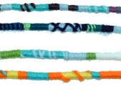 One Turquoise/Teal, Yarn Falls, Hippie Hair Wraps, Braid & Dreadlock Extensions, Accessories, Fun Colors 4 Hair, Turquoise Color Scheme