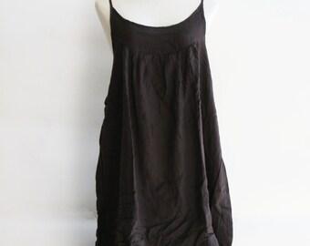 D17, Easy Going Summer Dark Brown Cotton Dress