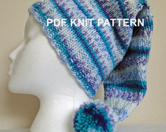 PDF PATTERN Seaspray Knit Stocking Hat in xxs, xs, s, m, l sizes