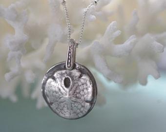 Fine Silver Sanddollar Necklace