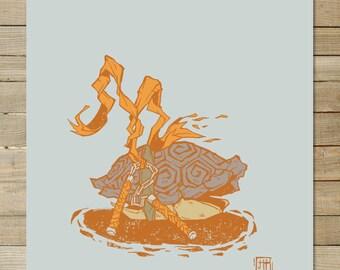 Mike TMNT | teenage mutant ninja turtles | 9 x 12 in art print |