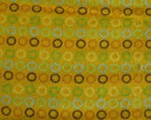 Yellow with Circles Cotton Flannel