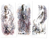 Limited Edition Signed Set of 3 Miniature Prints